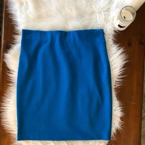 Vince Camuto Blue Stretch Pencil Skirt Size 8